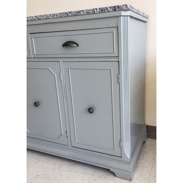 Grey Painted Server With Granite Top For Sale - Image 4 of 11