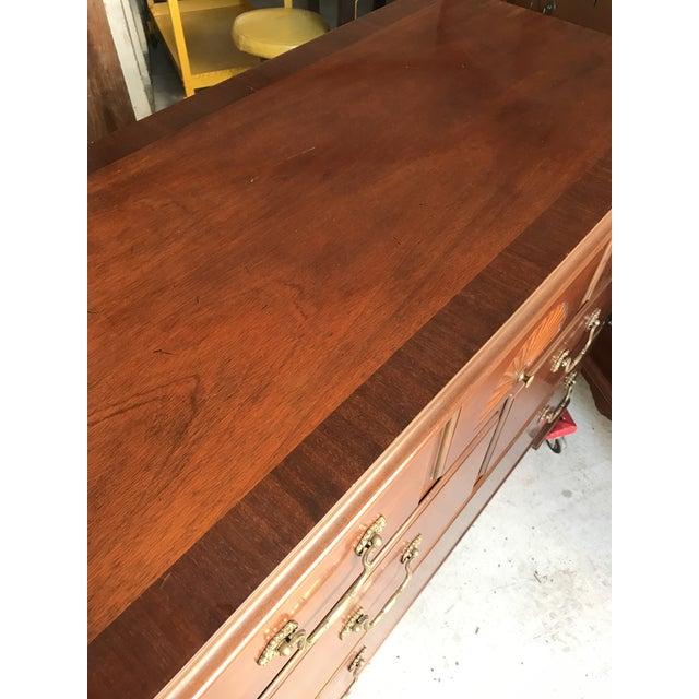 Baker Furniture Mahogany Console Chest Dresser - Image 6 of 11