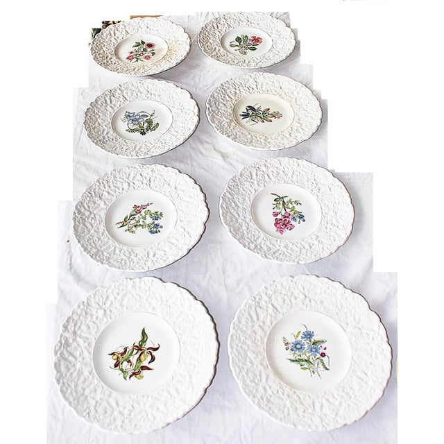 Classic English country tea served with simplicity on these eight Royal Couldon (England's oldest pottery) floral...