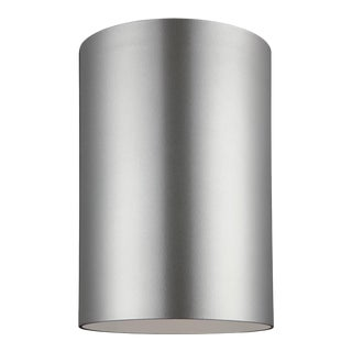 Christa Large One Light Outdoor Ceiling Flush Mount, Silver For Sale