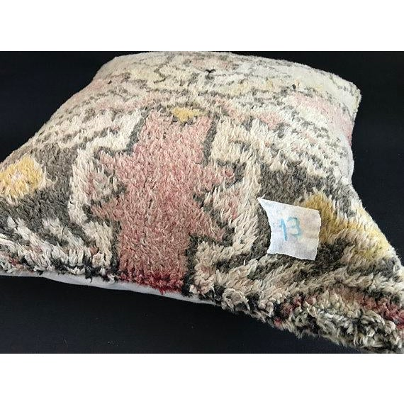 Tan Turkish Anatolian Oushak Wool Pillow Case For Sale - Image 8 of 9