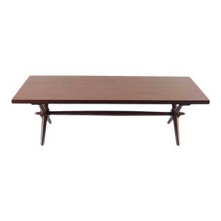 American Modern Walnut Coffee Table Designed by Robsjohn Gibbings For Sale