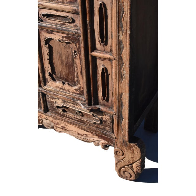19th Century Antique Rustic Northern Chinese Cabinet For Sale In Los Angeles - Image 6 of 13
