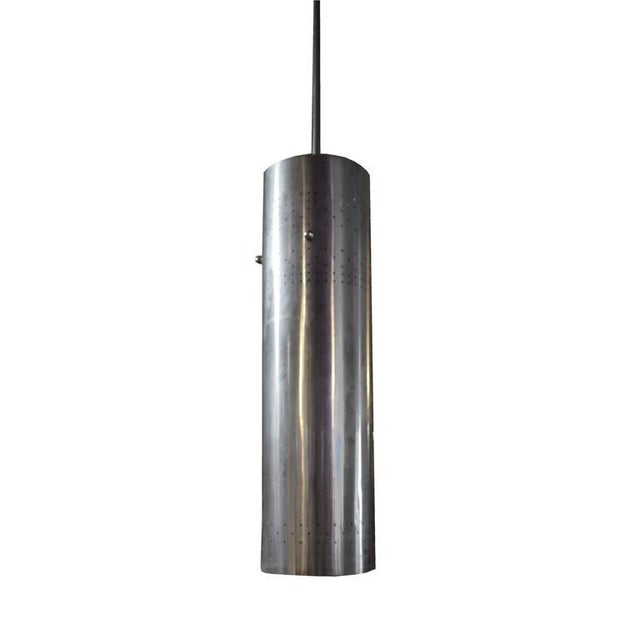 American Mid-Century Cylinder Light Fixture - Image 2 of 4