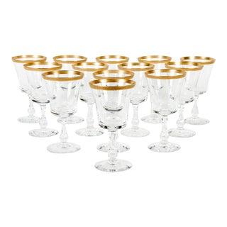 Crystal Wine Glasses - Set of 13