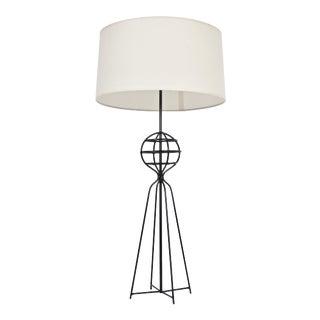 1950s Harry Lawenda for Kneedler-Fauchere Black Iron Table Lamp For Sale