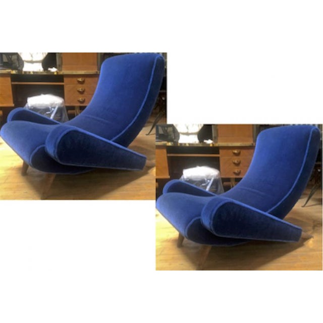 "Jean Royere Stunning Documented Pair of Lounge Chairs Model ""Varsano"" For Sale - Image 12 of 13"