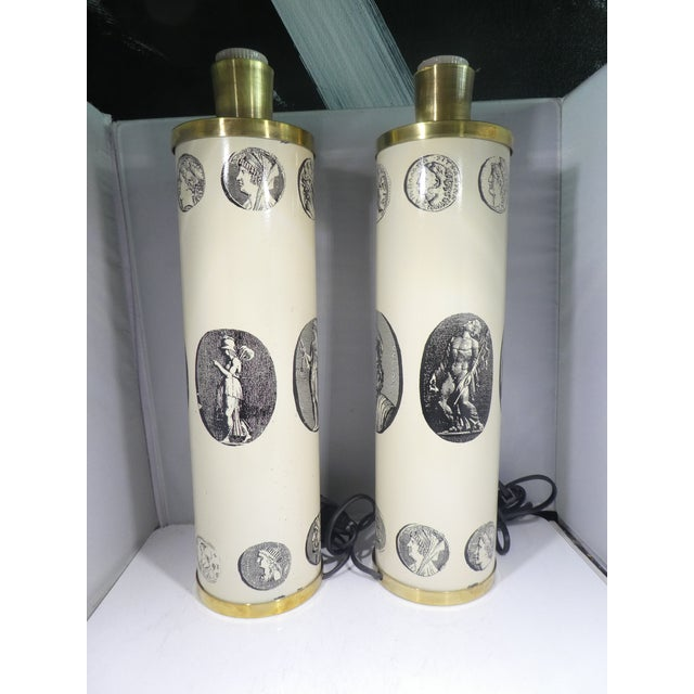 Mid-Century Modern Mid Century Fornasetti Neoclassical Cameo Lamps-A Pair For Sale - Image 3 of 13