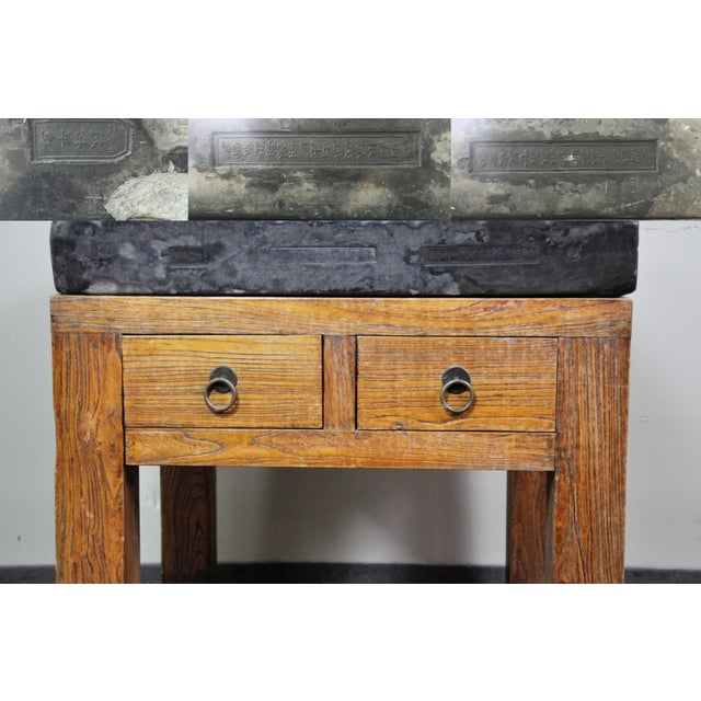 Asian 17th Century Chinese Stone Top Incense Table From the Qing Dynasty For Sale - Image 3 of 13