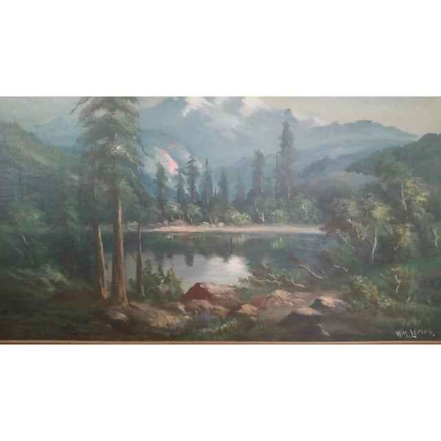 df11dfa79 Traditional Early 20th Century Landscape Painting by William Lemos For Sale  - Image 3 of 3