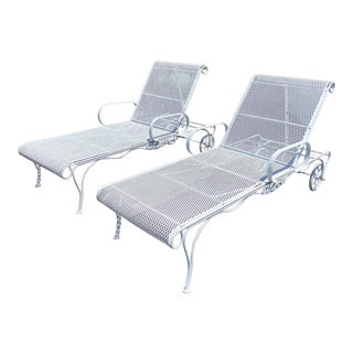 Vintage Outdoor Chaise Lounges by Russell Woodard - a Pair For Sale