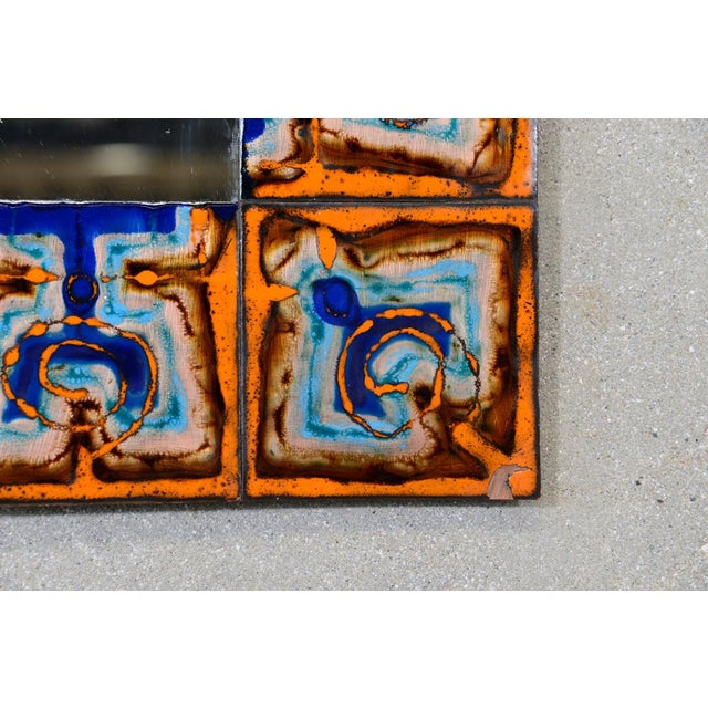 Bodil Eje Enameled Copper Mirror - Image 5 of 7