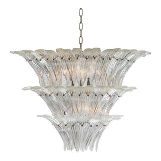 1960s Barovier and Toso Palmette Chandelier For Sale