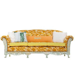 Vintage 1930s Bohemian Glam Sofa With Accent Pillows For Sale