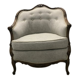 Louis XV-Style Carved Bergere For Sale