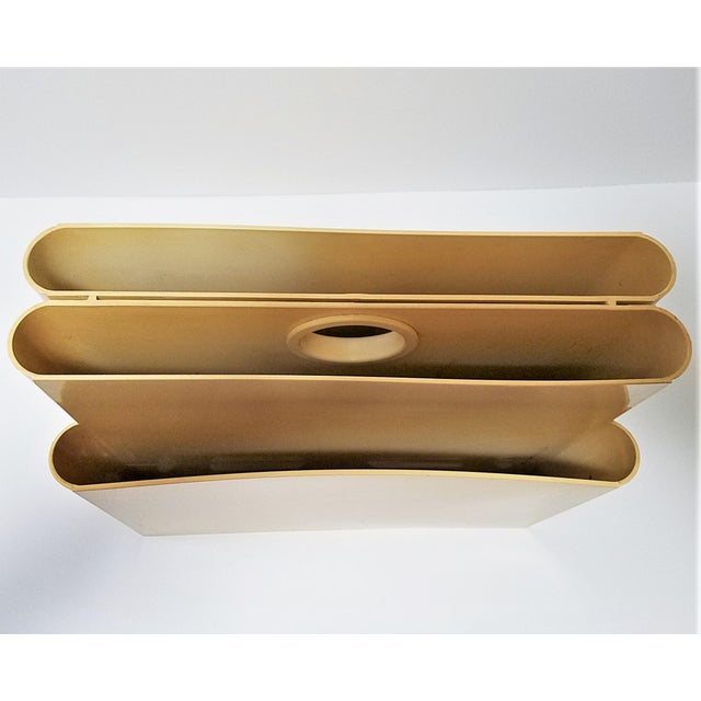 Vintage Ivory Giotto Stoppino Magazine Rack for Kartell For Sale - Image 5 of 10