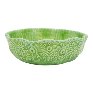 Early 21st Century Kosoy + Bouchard Signed, Dated Light Green Textured Large Bowl For Sale