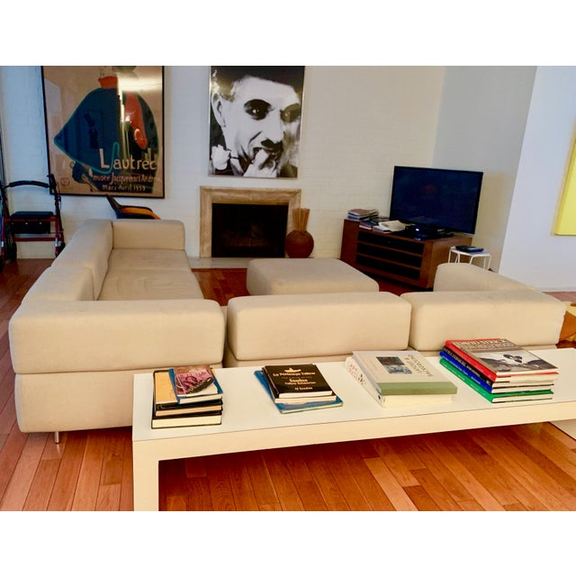 Silver 1970s Vintage Harvey Probber 7-Piece Beige Cubo Sectional For Sale - Image 8 of 12