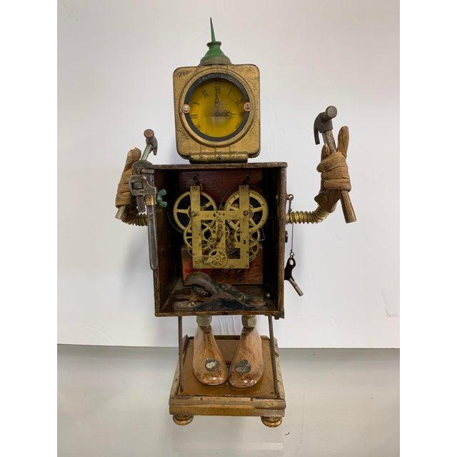"Linda Semple ""Time to Make Something"" Folk Art Sculpture For Sale - Image 13 of 13"