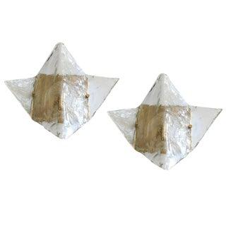 Mazzega Origami Sconces / Flush Mounts (2 Available) For Sale