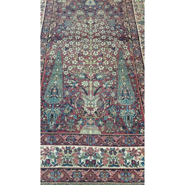"""Traditional Antique Kerman Handmade Wool Rug - 4'4"""" X 6'6"""" - Size Cat. 4x6 5x7 For Sale - Image 3 of 8"""