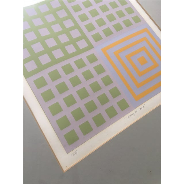 70's Geometric Abstract Silkscreens - A Pair - Image 3 of 8