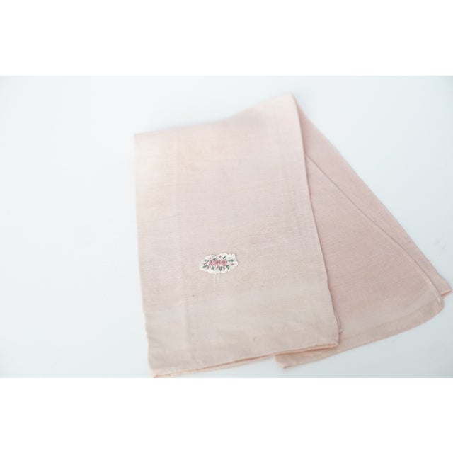 This charming one-of-a-kind fine cotton soft pink guest towel with a crocheted trio of roses can be used in a modern or...