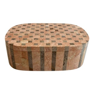 Maitland Smith Tessellated Salmon Squared Box For Sale
