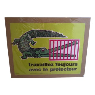 Vintage French Travelers Safety Poster For Sale