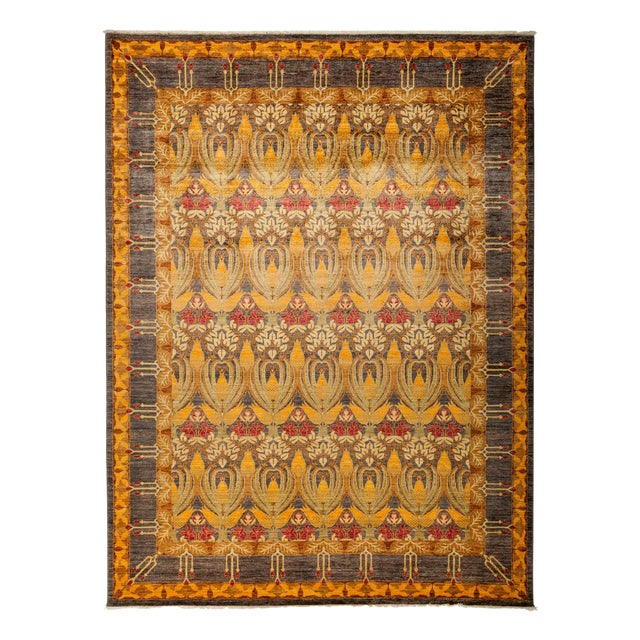 """New Hand-Knotted Arts & Crafts Rug - 8'10"""" X 11'9"""" - Image 1 of 2"""