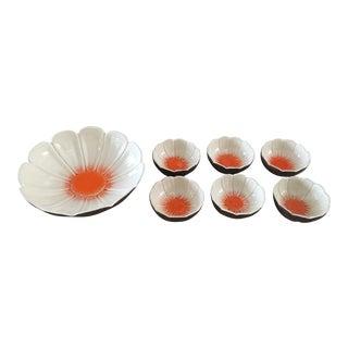 1950s Vintage McCoy Pottery Flower Bowls - Set of 7 For Sale
