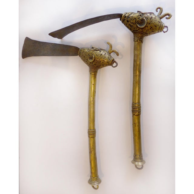 Baule Tribe of the Ivory Coast Brass Hatchets - A Pair - Image 4 of 9