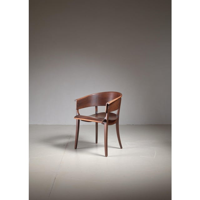 Bauhaus Ernst Rockhausen Bauhaus Style Plywood and Oak Chair, Germany, circa 1928 For Sale - Image 3 of 9