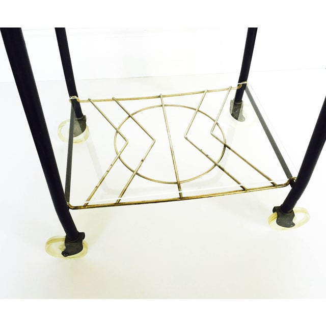 Mid-Century Black & Gold Atomic Bar Cart - Image 4 of 6