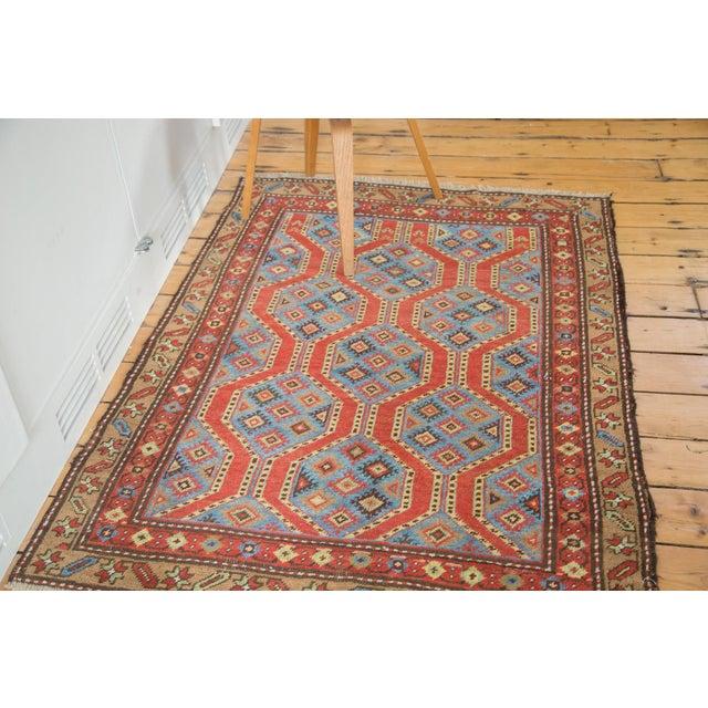 "Vintage Northwest Persian Square Rug - 3'9"" X 5'2"" - Image 7 of 7"