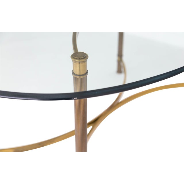 Oval Brass & Glass Dining Table - Image 6 of 9
