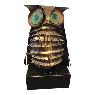 1970s Brutalist Curtis Jere Brass Owl