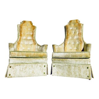 1960s Vintage Hollywood Regency Chairs- a Pair For Sale
