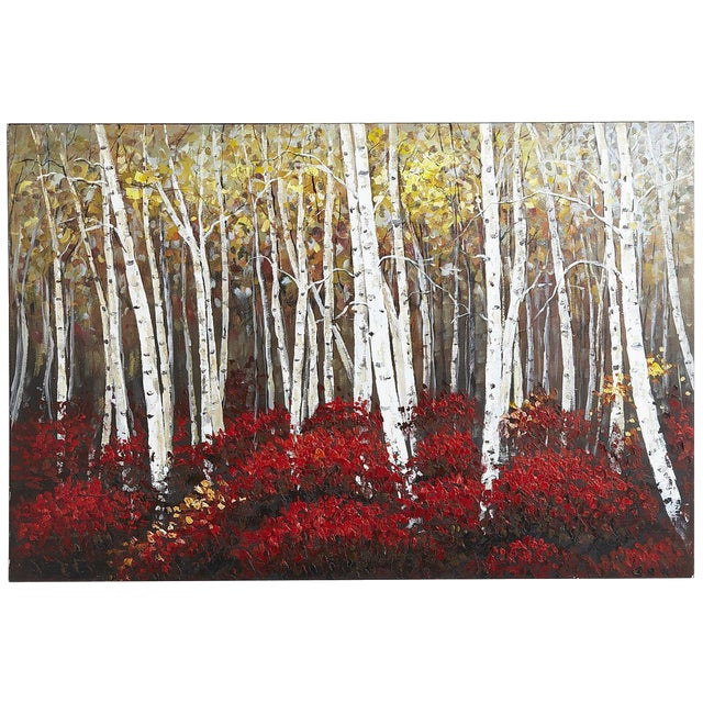 Aspens in Bloom Painting For Sale