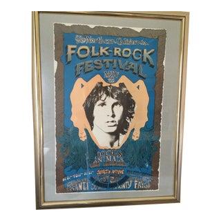 1968 Folk Rock Festival Original Poster