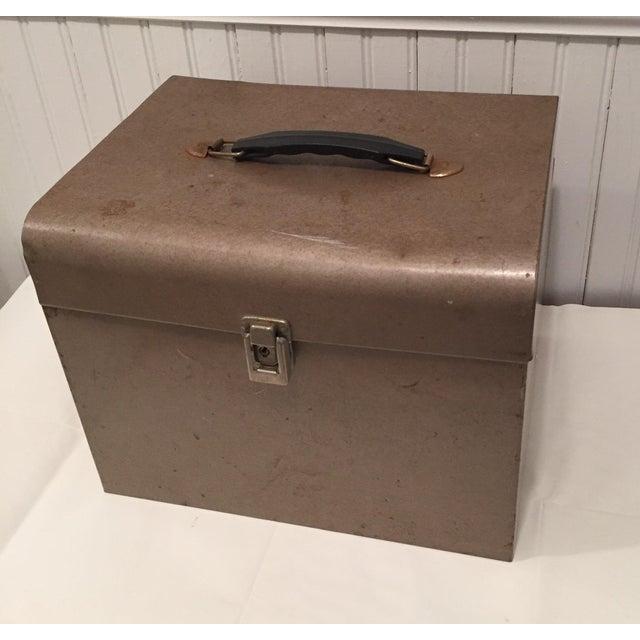 Retro Rustic Industrial Grey Metal Box - Image 3 of 10