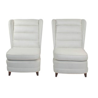 1950s Mid-Century Danish Modern Club Chairs - a Pair