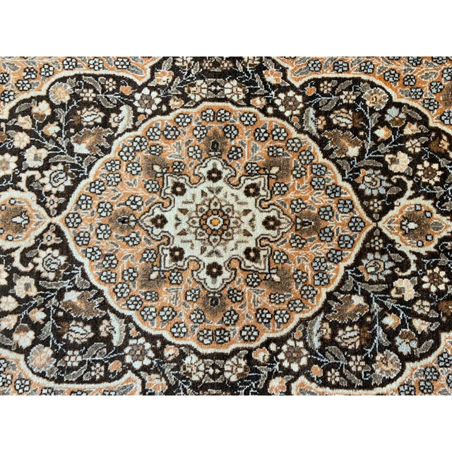 "Antique Persian Tabriz Hajijalili Rug - 4'1""x5'6"" For Sale - Image 10 of 12"