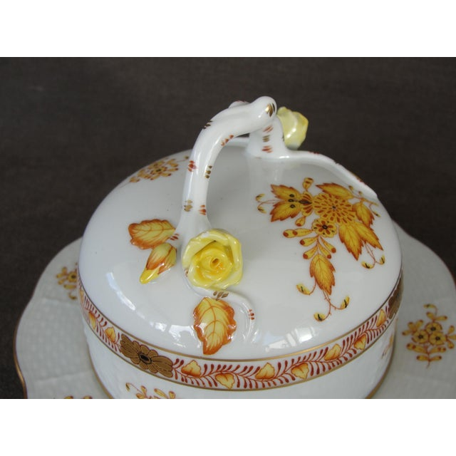 Herend Chinese Floral Butter Dish - Image 7 of 11