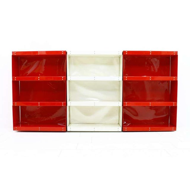 Softline Wall System, Shelf, Bookshelf by Otto Zapf, Germany 1971, Red / White For Sale - Image 6 of 10