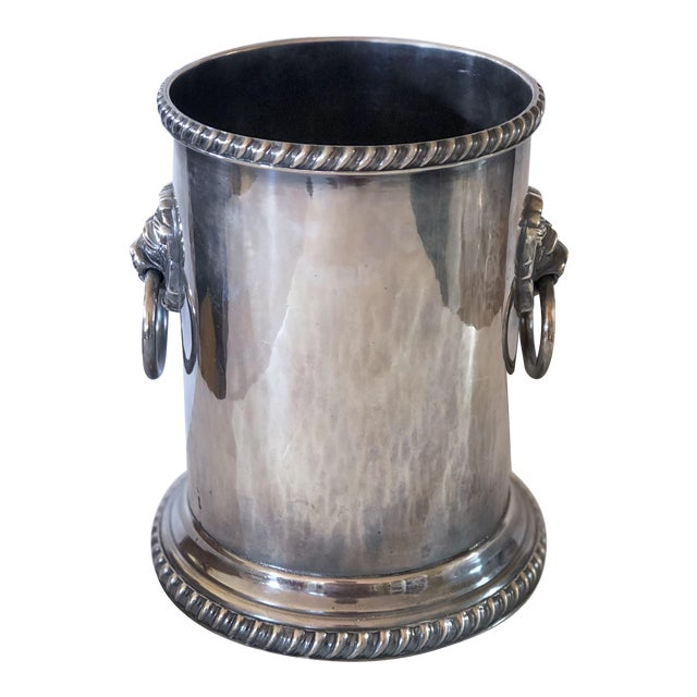 Silver Plate Bottle Coaster For Sale