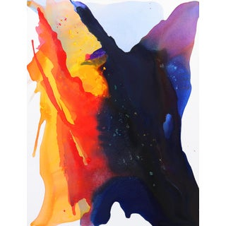 """Large Colorful Minimalist Contemporary Abstract Painting by Clara Berta """"Sunrise Sunday"""" For Sale"""