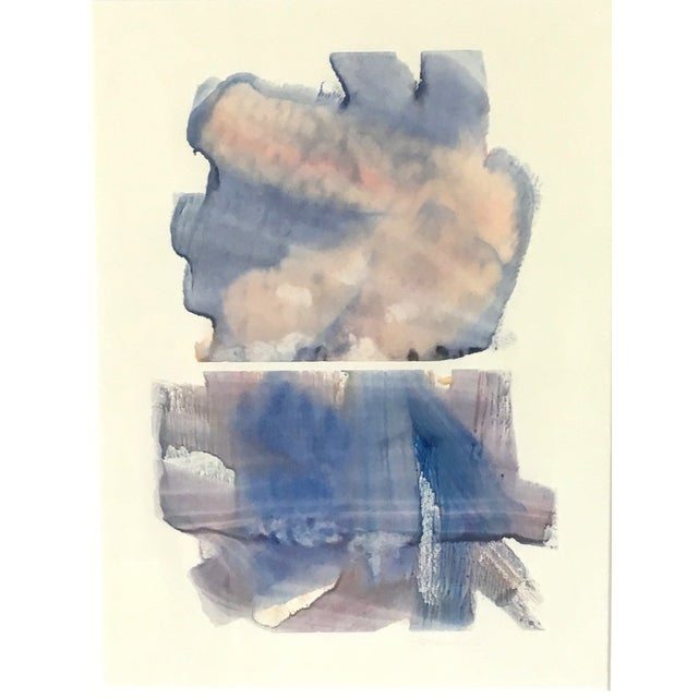 """This modernist abstract watercolor by Valentine (Val) Welman is titled """"Double Pleasure"""". Welman is a Northwest artist..."""