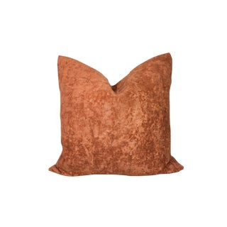 "20"" Cognac Textured Linen Pillow Cover For Sale"