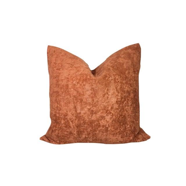 "20"" Cognac Textured Linen Pillow Cover For Sale"